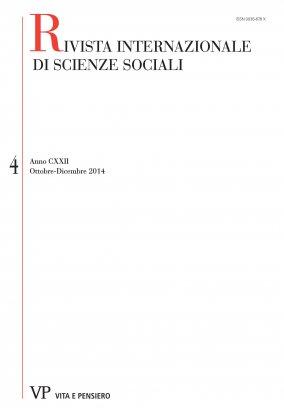 RIVISTA INTERNAZIONALE DI SCIENZE SOCIALI - 2014 - 4