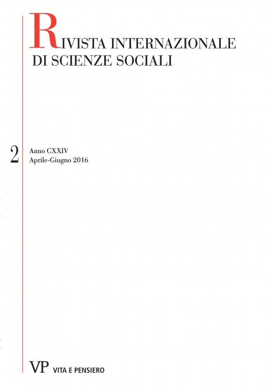 RIVISTA INTERNAZIONALE DI SCIENZE SOCIALI - 2016 - 2