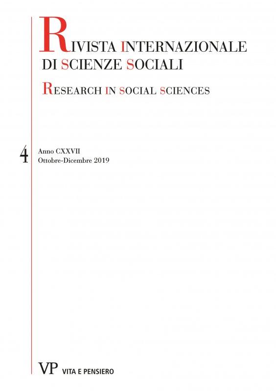 RIVISTA INTERNAZIONALE DI SCIENZE SOCIALI - 2019 - 4