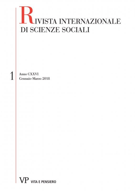 RIVISTA INTERNAZIONALE DI SCIENZE SOCIALI. Abbonamento annuale 2019