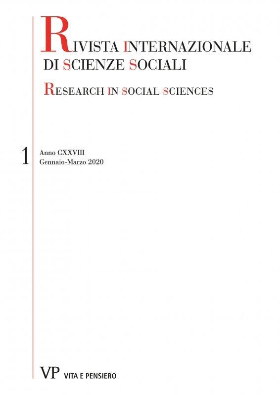 RIVISTA INTERNAZIONALE DI SCIENZE SOCIALI. Abbonamento annuale 2021